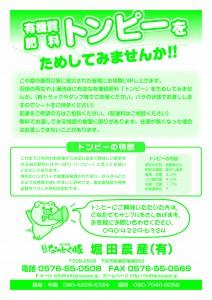 トンピーチラシ緑
